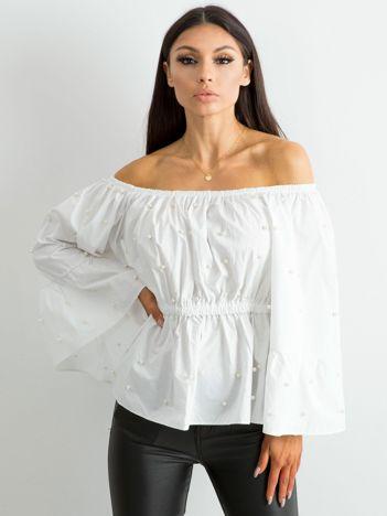 Bluzka z szerokimi rękawami biała