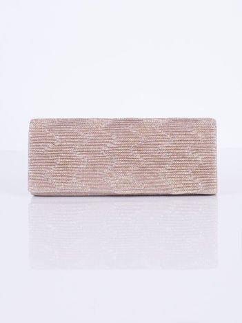 Błyszcząca kopertówka z ozdobnym karbowaniem złota