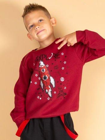 Bordowa bluza dresowa dla chłopca