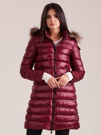 Bordowa damska kurtka zimowa