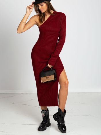 Bordowa sukienka Amber