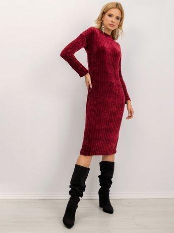 Bordowa sukienka BSL