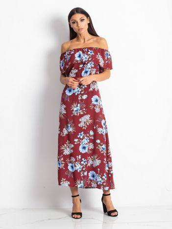 Bordowa sukienka Elda