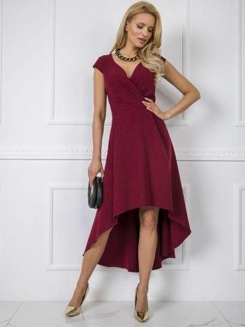 Bordowa sukienka Iva