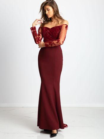 Bordowa sukienka Majesty