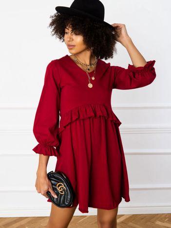 Bordowa sukienka Verity