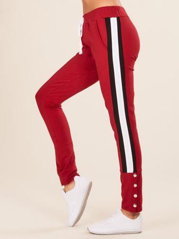 Bordowe damskie dresowe spodnie