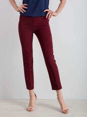 Bordowe klasyczne spodnie