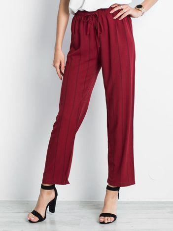 Bordowe spodnie Rediscover