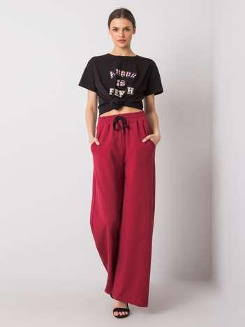 Bordowe spodnie dresowe Abril