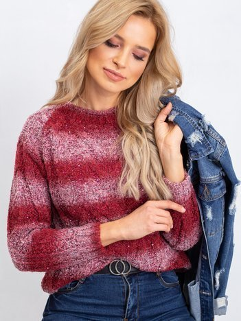 Bordowy sweter Shantelle
