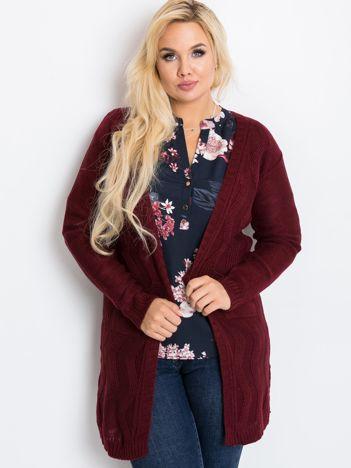 Bordowy sweter plus size Favorite