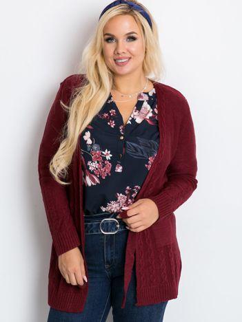 Bordowy sweter plus size Vibe