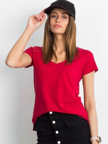 Bordowy t-shirt Square