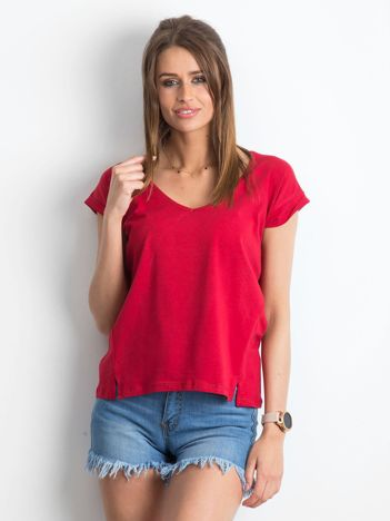 Bordowy t-shirt Vibes