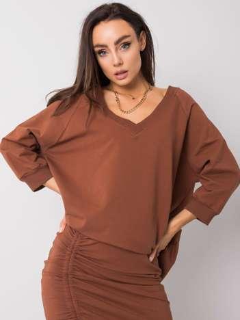 Brązowa bluza Sally RUE PARIS