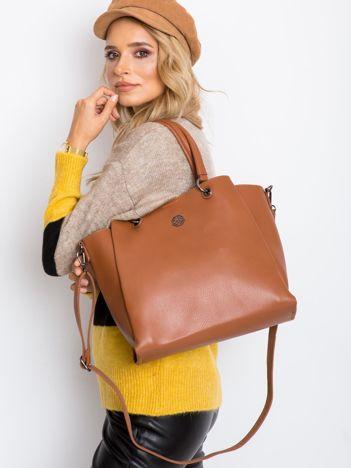 Brązowa damska torba z ekoskóry
