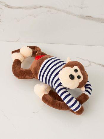 Brązowa maskotka Małpka