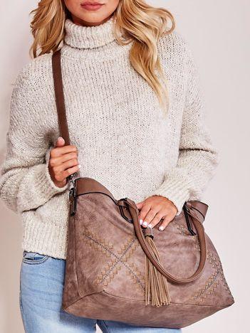 Brązowa miękka torba z chwostem