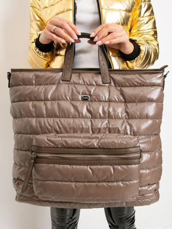 Brązowa pikowana torba