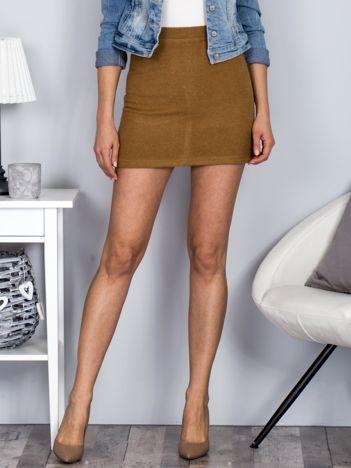 Brązowa spódnica mini