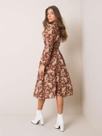 Brązowa sukienka Gianni SUBLEVEL