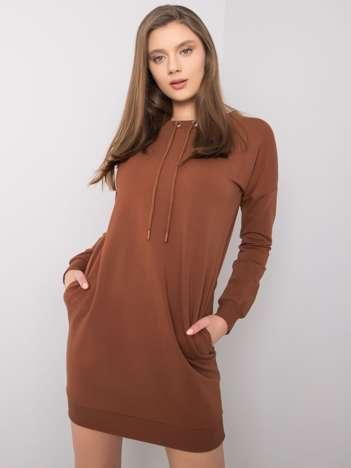 Brązowa sukienka Nessa RUE PARIS