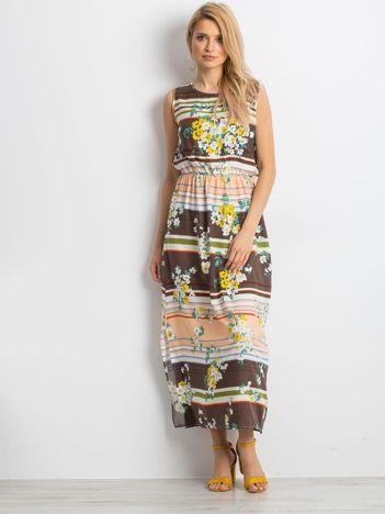 Brązowa sukienka Sacrilege