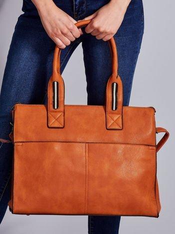 Brązowa torba damska z odpinanym paskiem