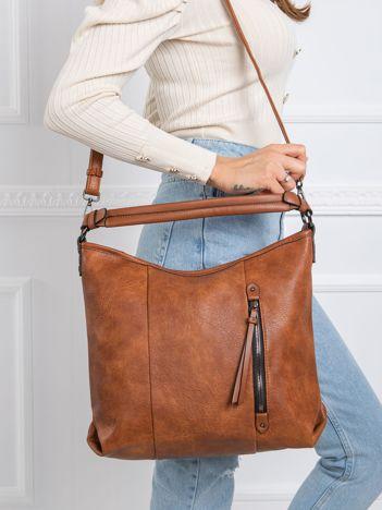 Brązowa torba ze skóry ekologicznej