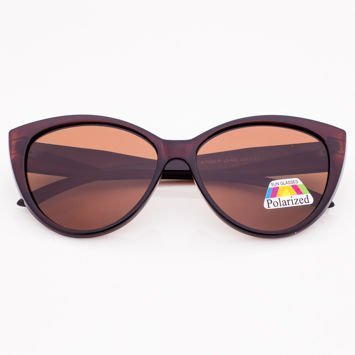 Brązowe Damskie Okulary POLARYZACYJNE