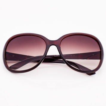 Brązowe Damskie Okulary Przeciwsłoneczne MUCHY