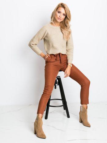 Brązowe spodnie Cindy