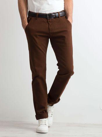 Brązowe spodnie męskie