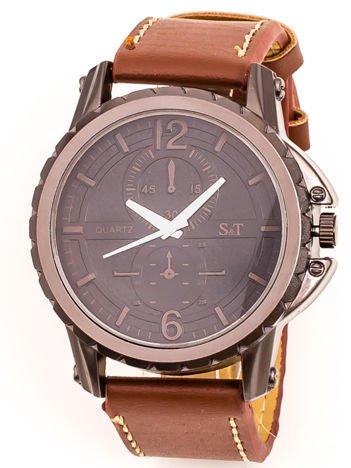 Brązowy Męski Zegarek
