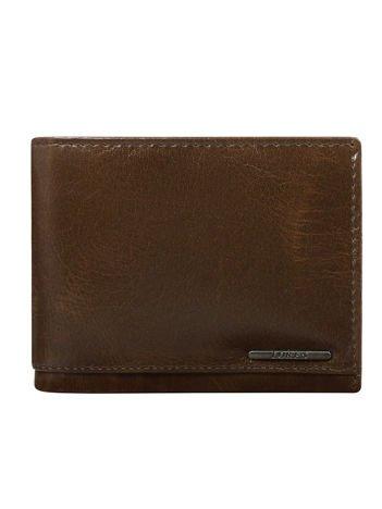 Brązowy męski portfel ze skóry z ochroną RFID