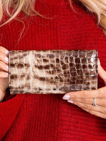 Brązowy skórzany portfel