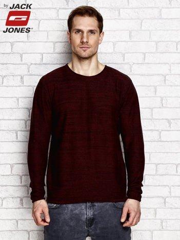 Brązowy sweter męski melange
