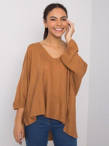 Brązowy sweter oversize Morgan RUE PARIS