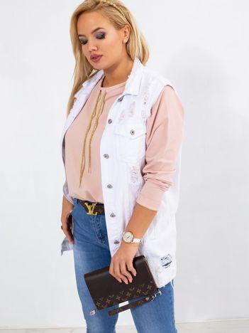 Brudnoróżowa bluza plus size Vacay