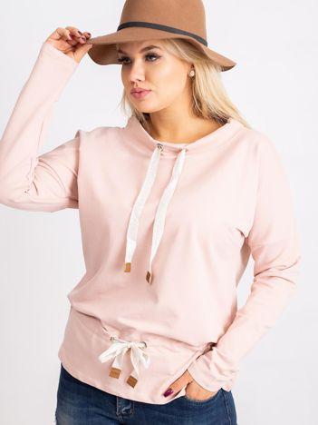 Brudnoróżowa bluzka plus size Khloe