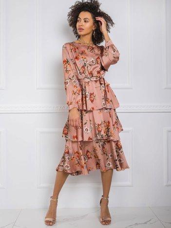 Brudnoróżowa sukienka Liz