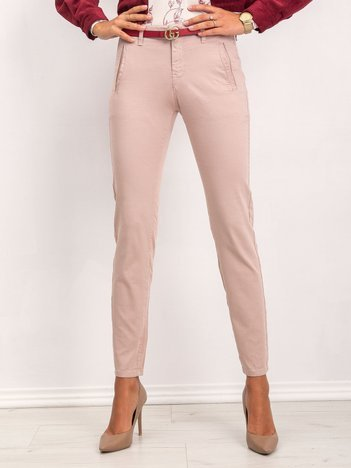 Brudnoróżowe spodnie Cora