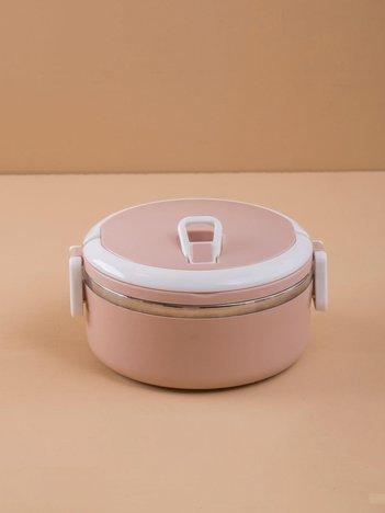 Brudnoróżowy lunch box