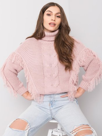Brudnoróżowy sweter Clementine