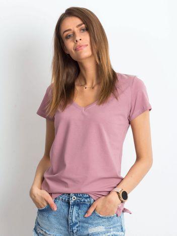 Brudnoróżowy t-shirt Square