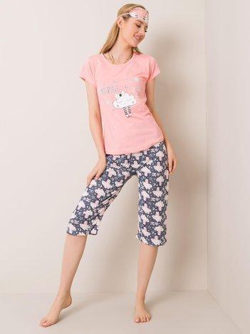 Brzoskwiniowa piżama dwuczęściowa