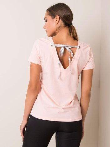 Brzoskwiniowy t-shirt Marble FOR FITNESS
