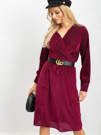 Burgundowa sukienka Attractive