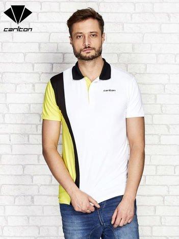 CARLTON Biała koszulka polo męska